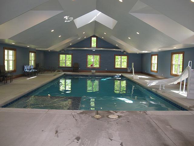 Indoor concrete pool