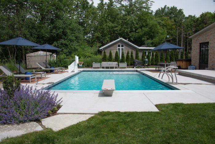 Custom shotcrete pool in East Grand Rapids, MI